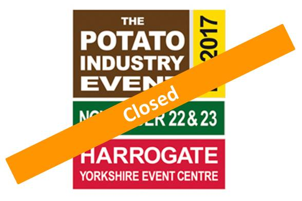 Potato Industry Event<br>22 – 23 November 2017 <br> Harrogate – England