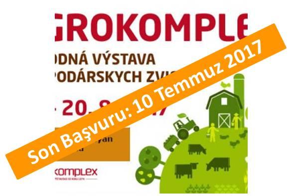 AGROKOMPLEX <br> 17-20 Ağustos 2017<br>Nitra – Slovakya