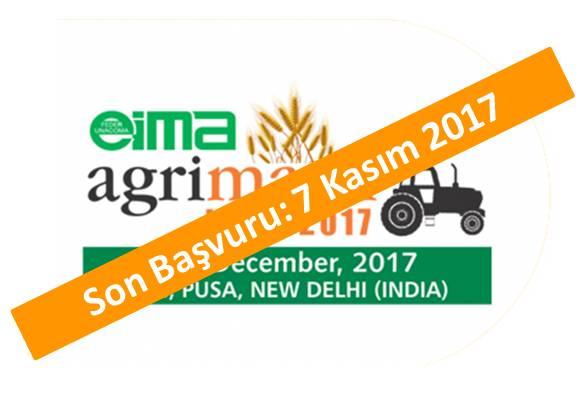 EIMA Agri Mach <br>07-13 Aralık 2017<br> Hindistan